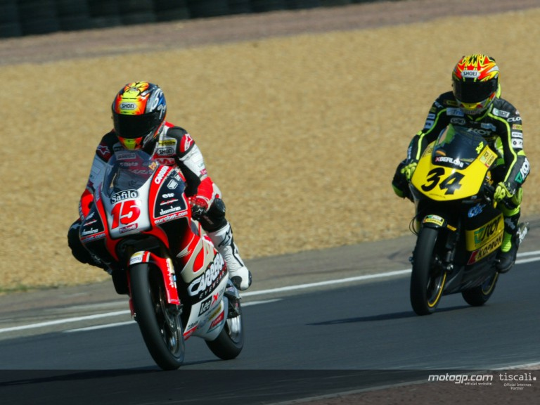 Locatelli & Dovizioso action  Le Mans 2004