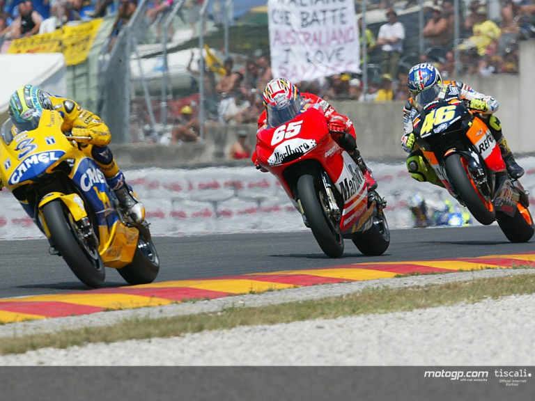 Group motogp action Mugello 2003