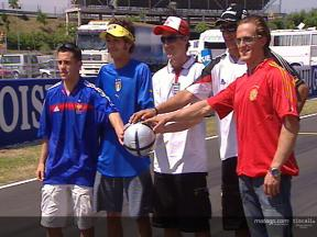 MotoGP riders show their colours ahead of Euro 2004
