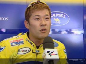 Makoto TAMADA interview after the race