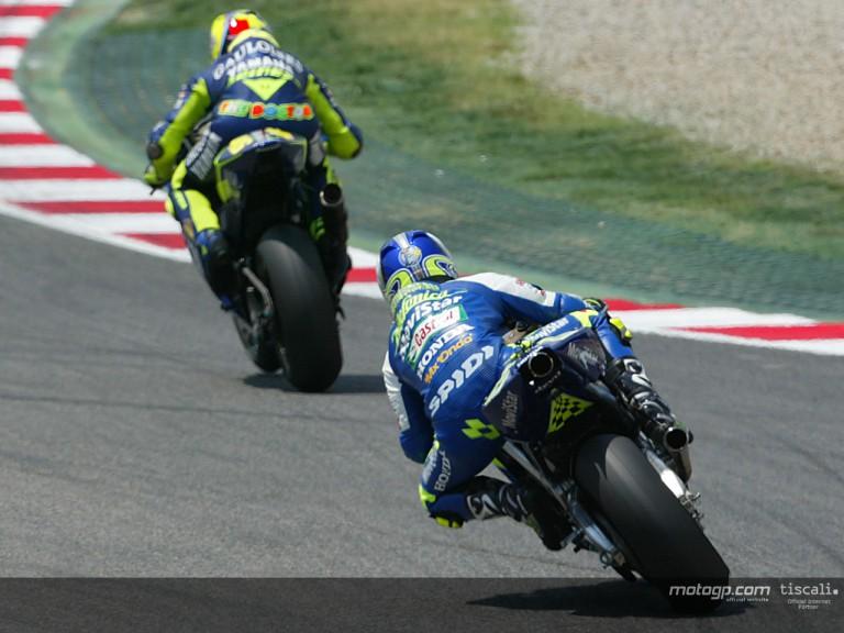 Gibernau & Rossi action Catalunya 2004