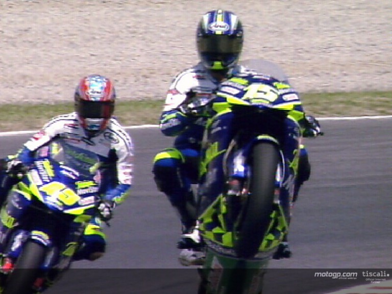Best actions of the MotoGP at Catalunya