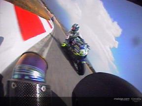 Relive the Gibernau and Rossi battle at Catalunya throught the on board camera