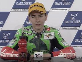 Interview de Jorge Lorenzo apres course