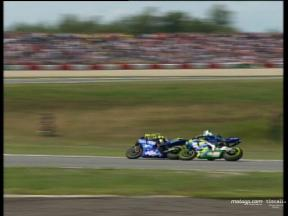 Last lap incident between Rossi and Gibernau