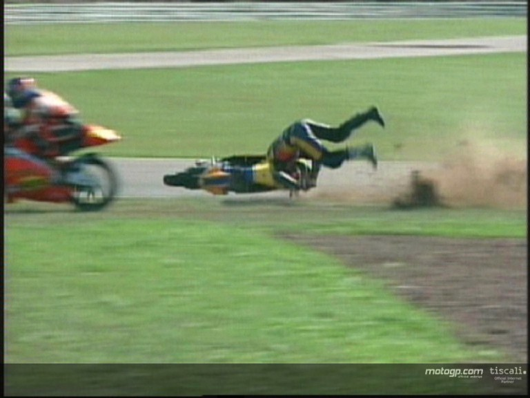 Manuel Manna crash during the QP1