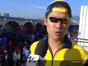 公式予選1: 玉田 インタビュー