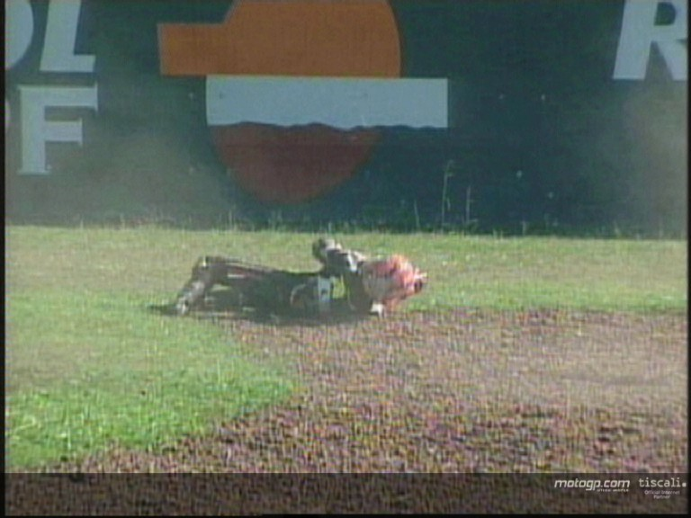 Hector Barbera crash during the QP2