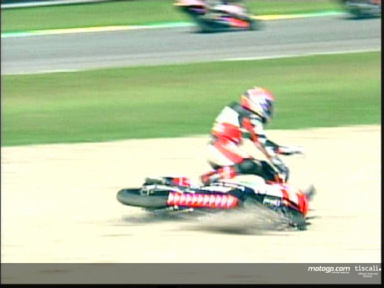 Fabrizio Lai crash during the race