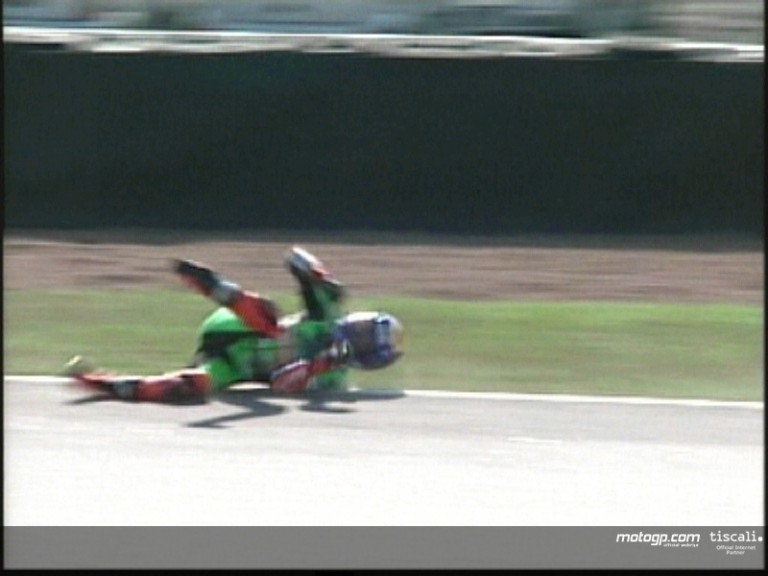Jorge Lorenzo crash during the race