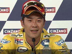 Makoto Tamada interview after the race