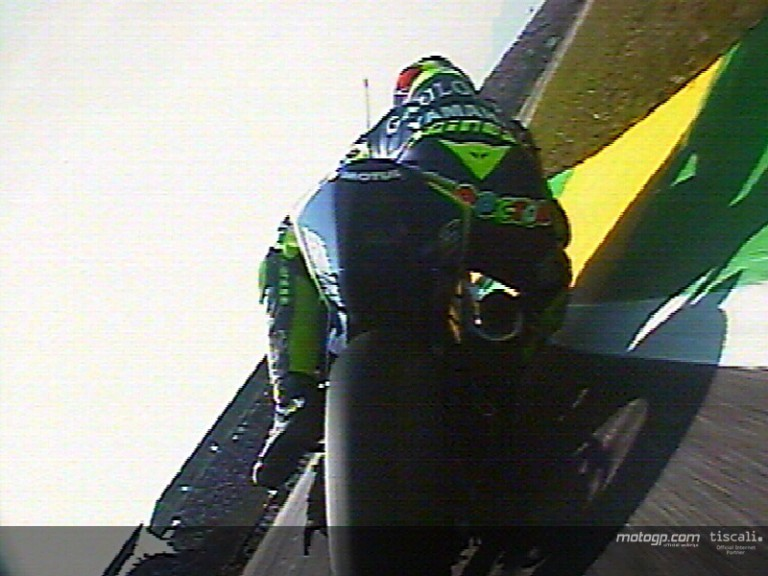 On board with Gibernau on his first laps in Rio