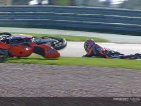 Casey Stoner crash during the FP2