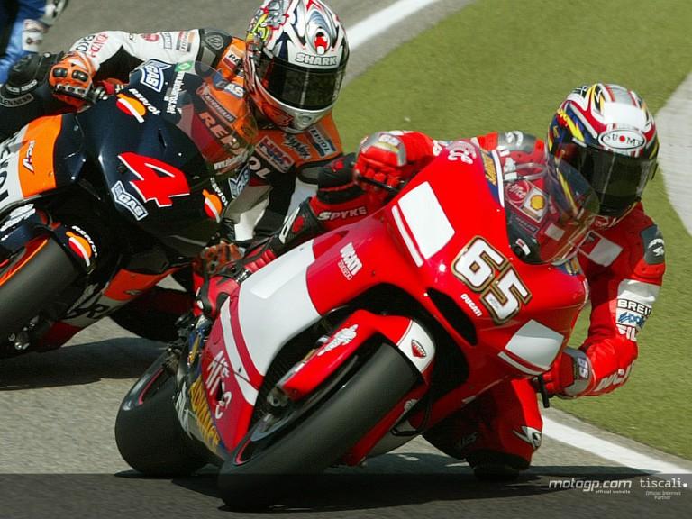 Capirossi action Sachsenring 2004