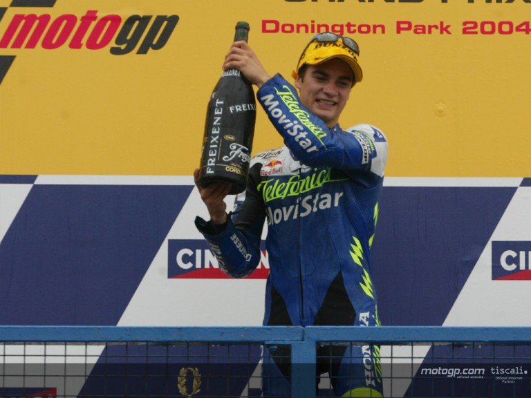 Pedrosa podium - Donington Park