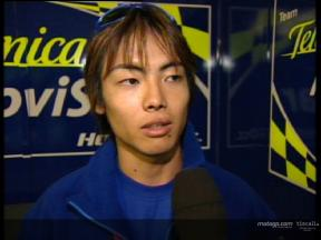 Hiroshi Aoyama interview after the race