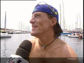 Sete Gibernau interview in Barcelona before holidays