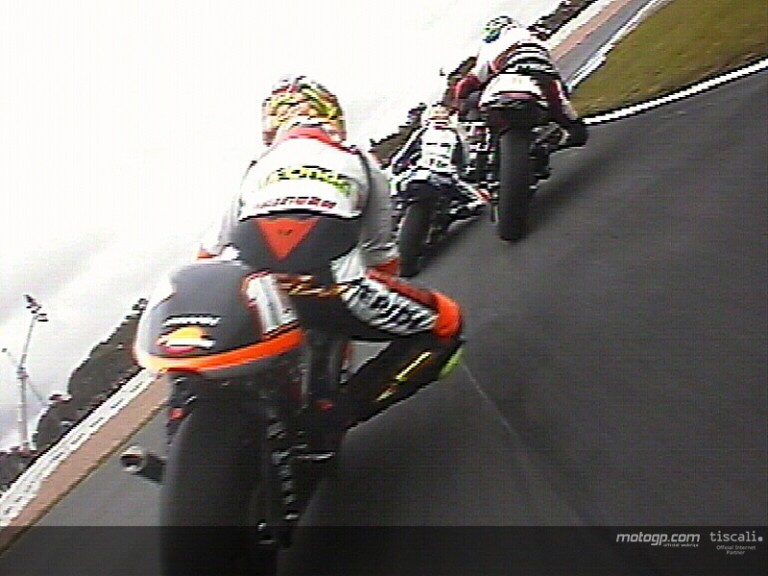 On board with Poggialli on his first lap in Donington Park