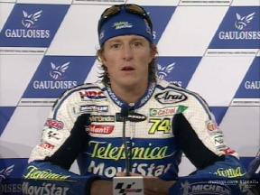 Interview de Sete Gibernau apres course