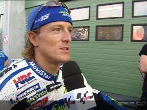 Sete Gibernau interview after the Brno test
