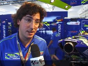 Juan Martinez explains Gibernau´s exhaust concerns