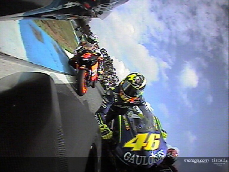 Start of the MotoGP race onboard with Makoto Tamada
