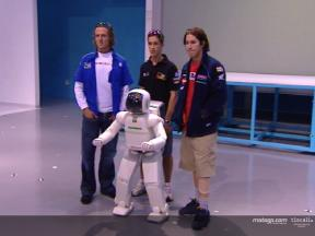 MotoGP riders meet ASIMO