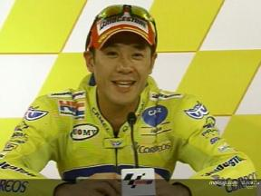 Makoto Tamada interview after the QP2
