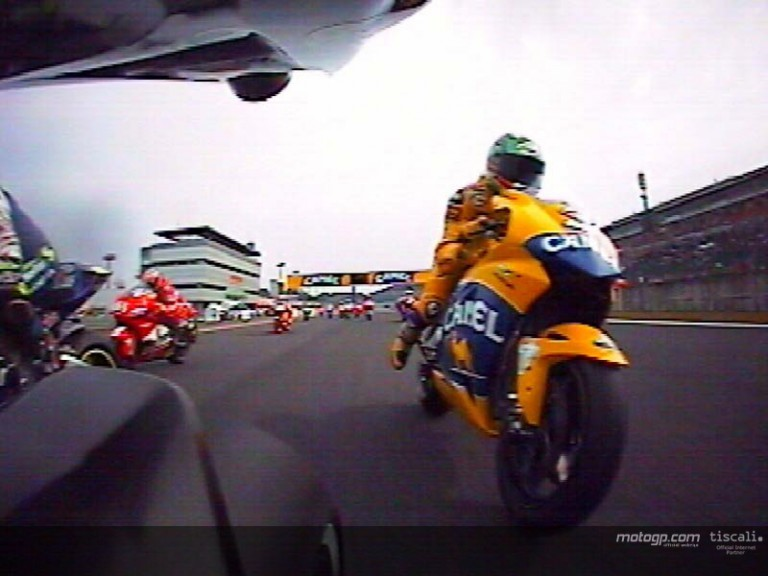 On board with Makoto Tamada on his first lap in Motegi