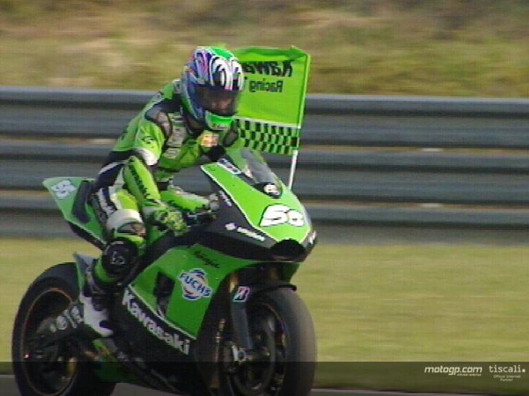 Shinya Nakano takes Kawasaki´s first MotoGP podium