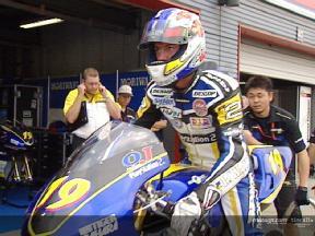 Olivier Jacque back in MotoGP action