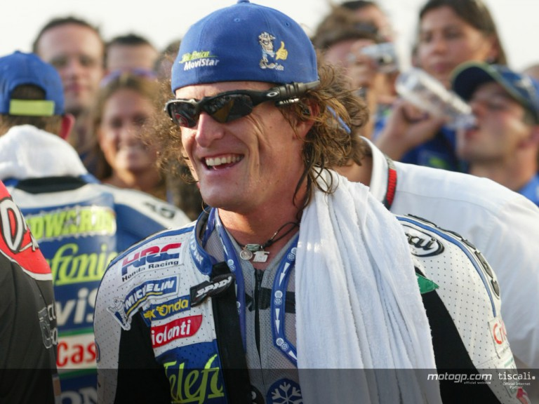 Gibernau post race Qatar