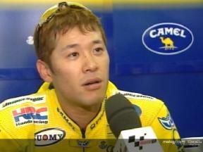 Interview de Makoto Tamada apres QP1