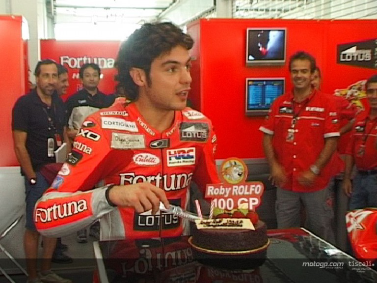 Roberto Rolfo 100th GP