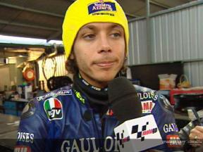 Entrevista a Valentino Rossi tras la QP1