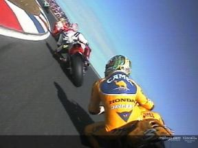 On board with Colin Edwards on his first lap in Phillip Island