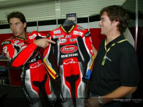 Xaus hands over leathers to brave charity bidder
