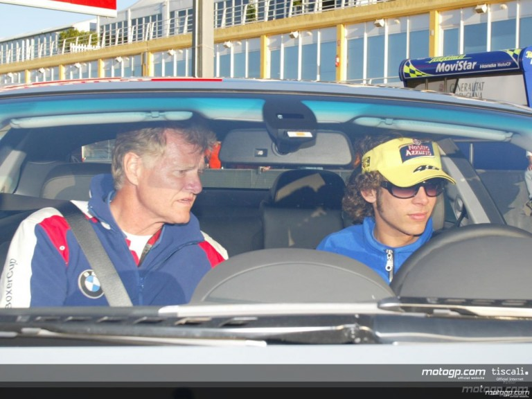 Rossi collects his new BMW 645Ci