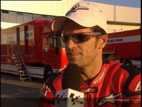 Interview de Carlos Checa apres Jerez test