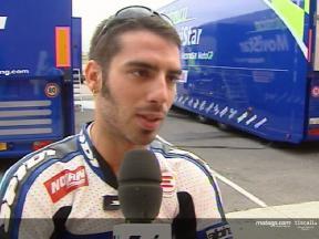 Intervista a Marco Melandri dopo i test a Valencia
