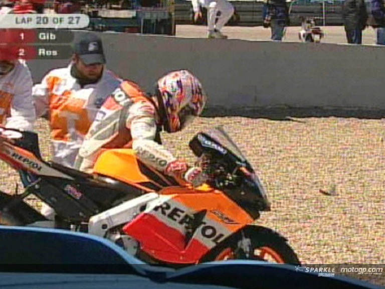 Nicky Hayden crash during the race