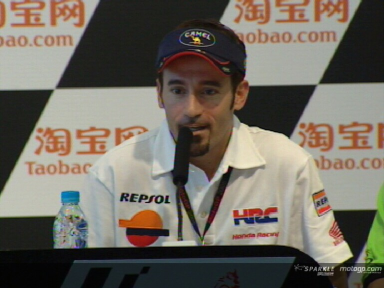 Max Biaggi interview at the pre-event press conference