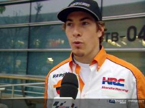 Nicky Hayden Interview nach dem FP2