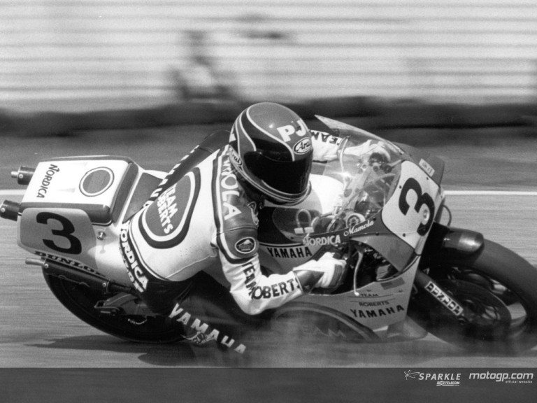 Randy Mamola action 1987 Yamaha