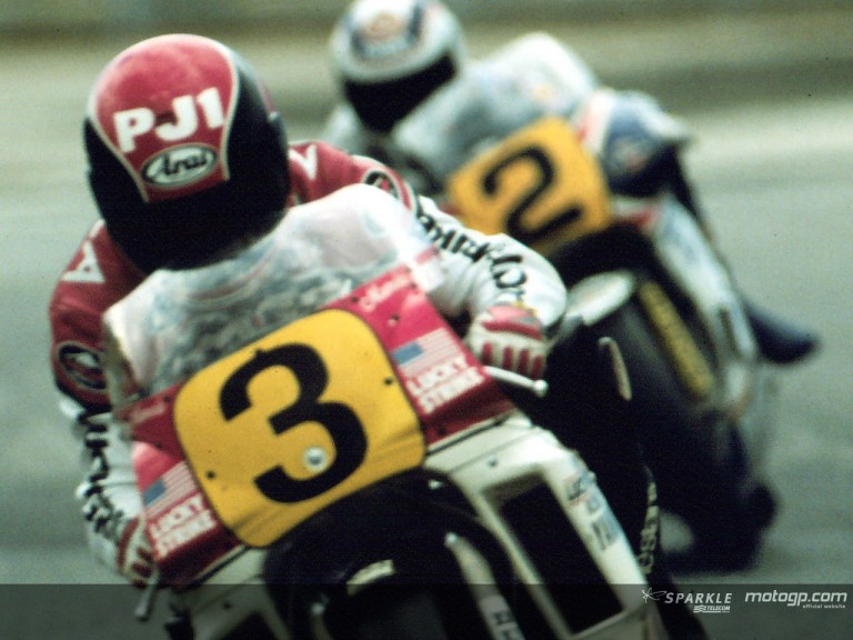 Mamola action Le Mans 1987