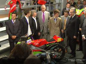 King Juan Carlos visits the Derbi factory