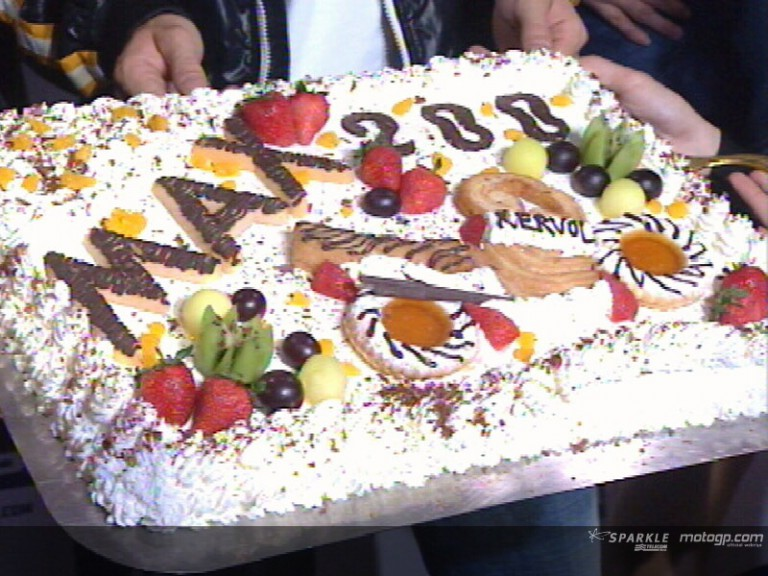 Biaggi celebrates his 200th Grand Prix in China