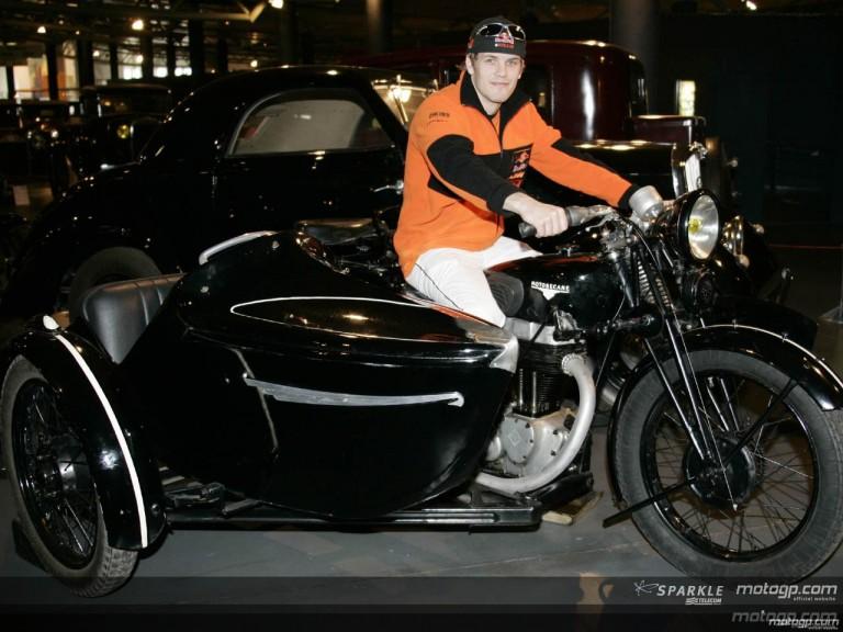 MotoGP riders visit the Musée Automobile de la Sarthe