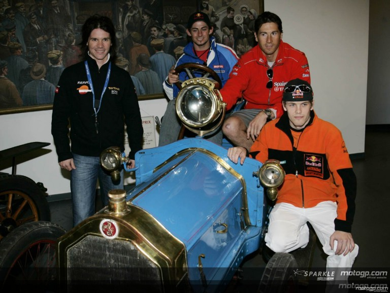 MotoGP riders visit the Musée Automobile de la Sarthe