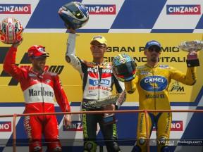 Podium MotoGP 2003 Biaggi Rossi & Capirossi